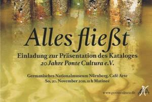 Einladung zur Präsentation des Katalogs 20 Jahre Ponte Cultura e.V.